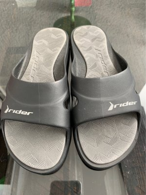 Easy Rider Beach Sandals black-silver-colored