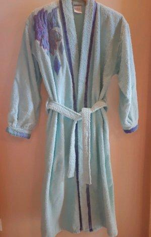 Peignoirs de bain violet foncé-turquoise