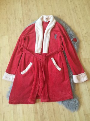 Badmantel rood-room Polyester
