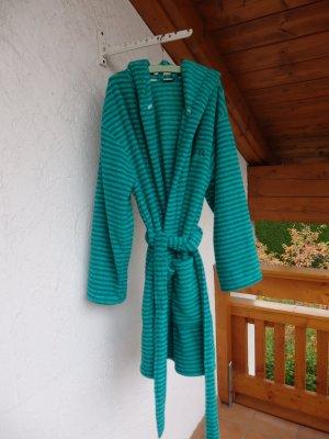 H.I.S Bathrobe cadet blue-light blue polyester