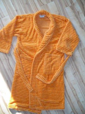 Bademantel + Turbantuch, orange, Gr.L, soft Touch
