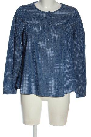 Bader Camicia blusa blu-bianco stampa integrale stile professionale