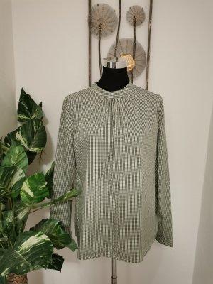Blusa tradizionale verde bosco-bianco Cotone