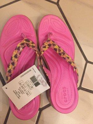 Crocs Sandalo toe-post rosa-fucsia neon