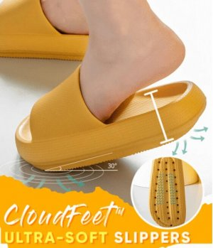 Sandały plażowe żółty