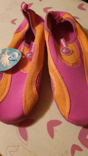 Sandalias de playa rosa-naranja neón