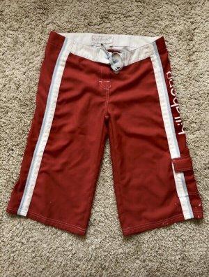 Billabong Shorts de bain blanc-rouge brique