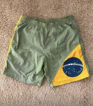 Bañador de hombre verde claro-amarillo
