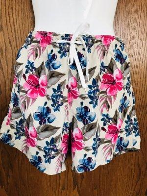 H&M Shorts de bain crème-rouge framboise