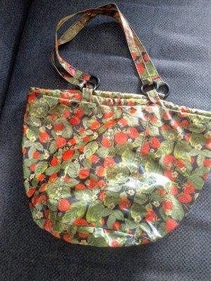 Badetasche Strandtasche Erdbeerprint