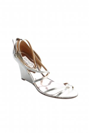 Badgley Mischka Pumps met sleehak goud elegant