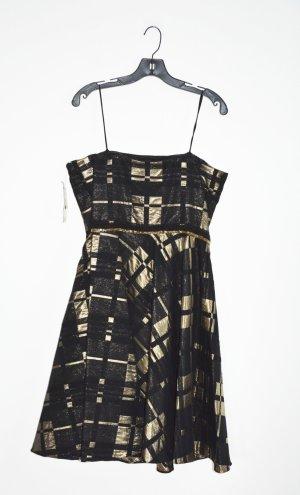 Badgley Mischka Cocktail Dress black-gold-colored mixture fibre