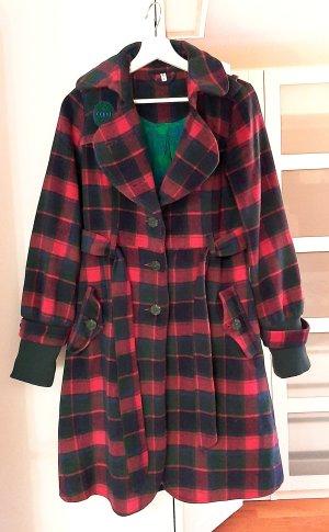 BÄM!!! Neuwertiger Mantel von Blutsgeschwister in pink/grün, Gr. S
