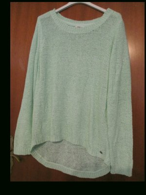 Be only Coarse Knitted Sweater lime-green polyacrylic