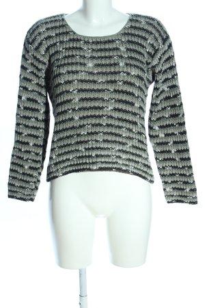 Bär Pullover a maglia grossa grigio chiaro-nero stampa integrale stile casual