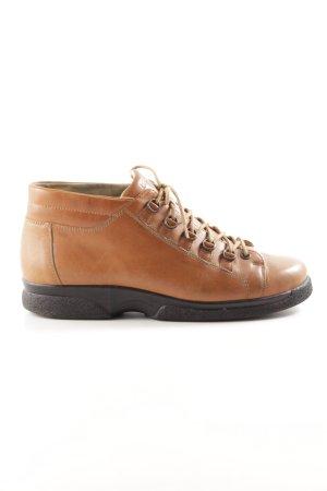 Bär Lace Shoes light orange-black allover print casual look