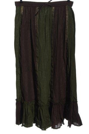 Bäres Spódnica maxi khaki-brązowy Wzór w paski W stylu casual