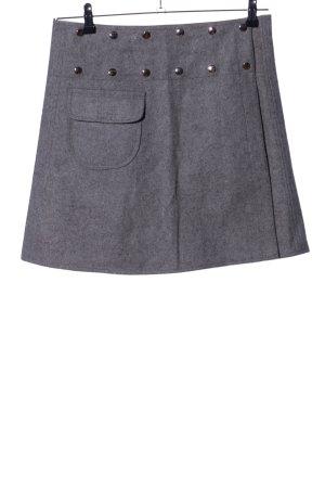 Bäres Wełniana spódnica jasnoszary Melanżowy W stylu casual