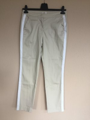 BAF 7/8 Length Trousers cream-white cotton