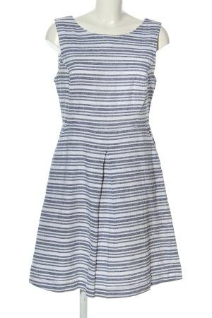 BAF Sukienka midi biały-niebieski Wzór w paski W stylu casual