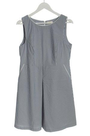 BAF Midikleid weiß-blau Streifenmuster Casual-Look