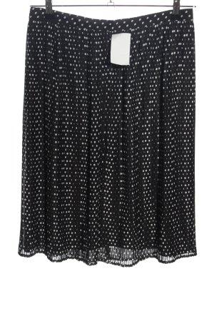 BAF Jupe plissée noir-blanc imprimé allover style décontracté