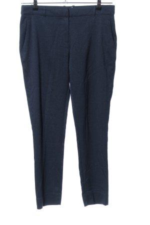 BAF Spodnie materiałowe niebieski Siateczkowy wzór W stylu biznesowym