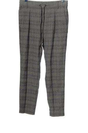 BAF Spodnie materiałowe czarny-biały Na całej powierzchni W stylu casual
