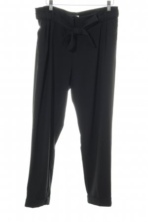 BAF Pantalon en jersey noir style d'affaires