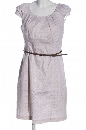 BAF Robe fourreau blanc cassé-blanc imprimé allover style décontracté