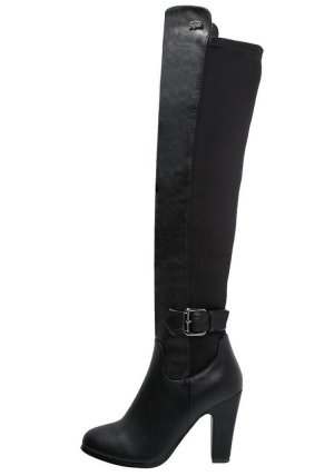 Buffalo London Overknees black