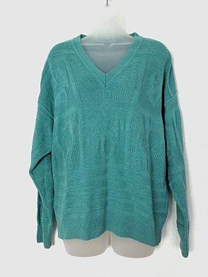 Baffo Pullover Grandpa Sweater oversized türkis 80s Gr. 40-42