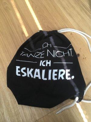 Bag schwarz mit Tanzspruch