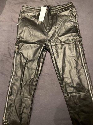 0039 Italy Pantalon fuselé noir-argenté