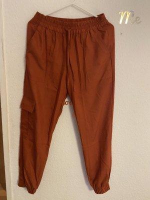 Tally Weijl Pantalon «Baggy» rouge carmin-rouille
