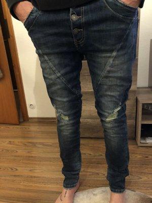100% Fashion Boyfriend jeans donkerblauw