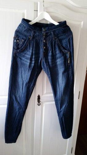 Trf by Zara Workowate jeansy ciemnoniebieski Bawełna