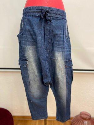 Jeans baggy bleu acier