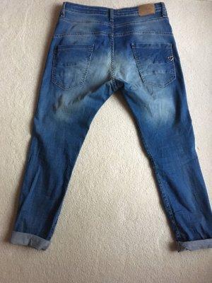 Please Pantalone largo blu