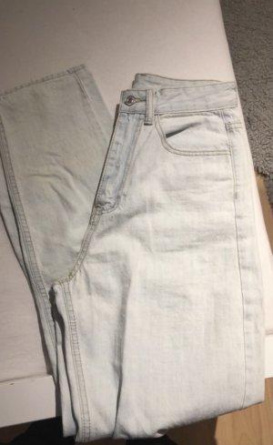 SheIn Workowate jeansy błękitny
