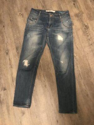 Zara Trafaluc Baggy jeans lichtblauw-leigrijs