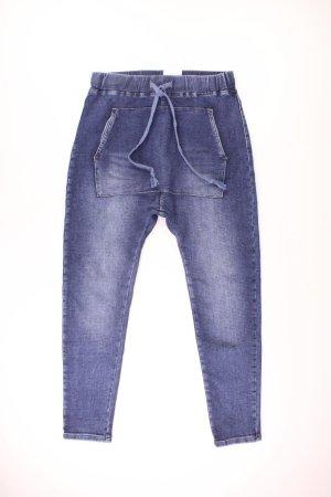 Workowate jeansy niebieski-niebieski neonowy-ciemnoniebieski-błękitny Bawełna