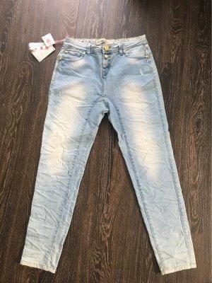 Simply Chic Jeans baggy bleu azur
