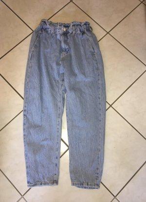 Zara Workowate jeansy błękitny