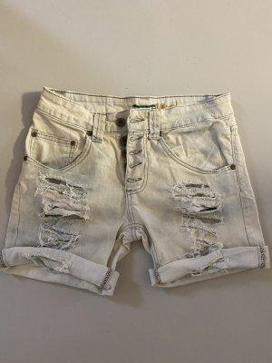 Please Pantaloncino di jeans grigio chiaro