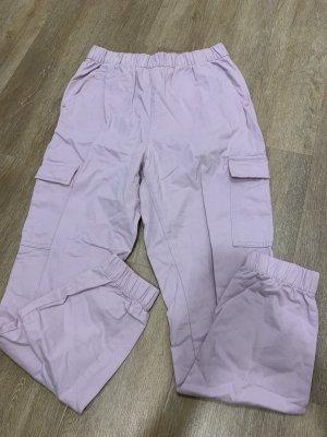 H&M Workowate jeansy bladofiołkowy