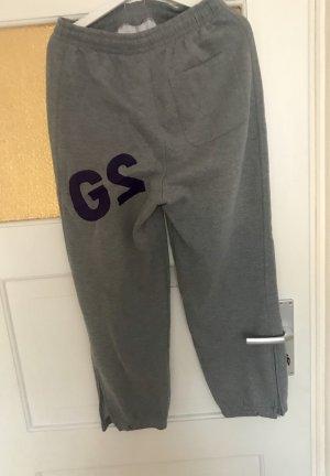 Spodnie sportowe szary-fiolet