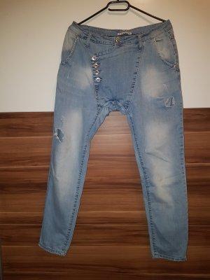 Jeans baggy bleu pâle