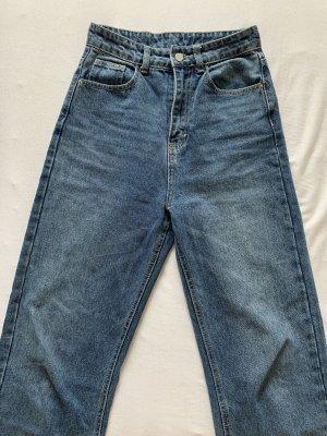 Sheinside Workowate jeansy niebieski