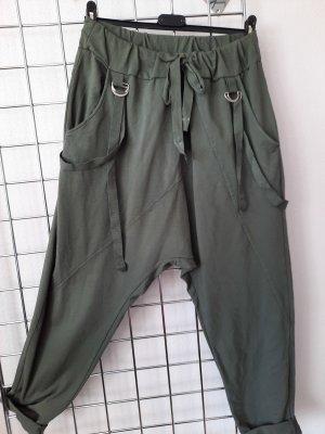 Made in Italy Luźne spodnie khaki